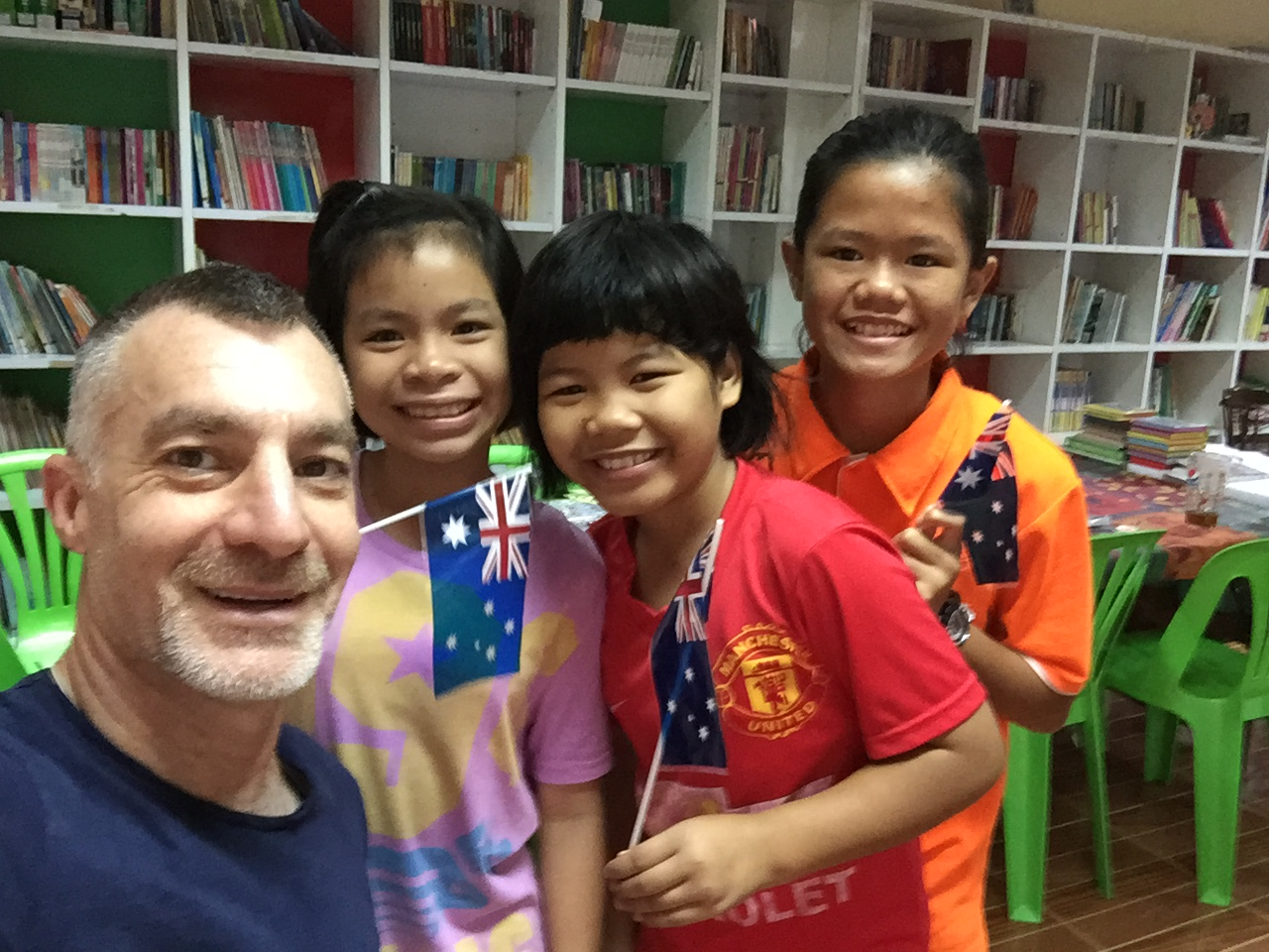 David with kids in Thailand